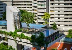 大厦现代新加坡 免版税库存照片