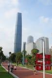 大厦现代的广州 免版税库存图片