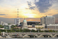 大厦现场议会至尊的新加坡 免版税库存照片