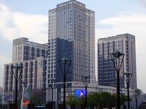 大厦现代高 库存照片