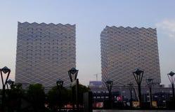 大厦现代高 库存图片