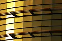 大厦玻璃金子 库存图片