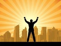 大厦生意人常设成功顶层 免版税图库摄影
