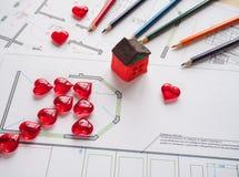 大厦的企业概念在一个建筑办公室策划 免版税库存照片