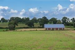 大厦的太阳系-农业和可再造能源 免版税库存图片