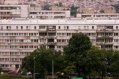 大厦的屋顶视图在贝尔格莱德,塞尔维亚 库存照片