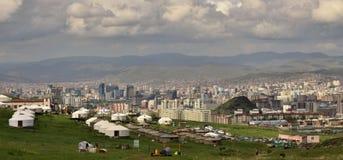 大厦的新建工程, Ulaanbaatar,蒙古 库存图片