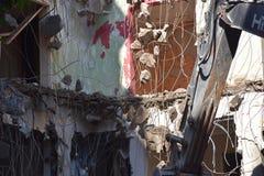 大厦的爆破在都市的 免版税库存照片