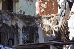 大厦的爆破在都市的 库存图片