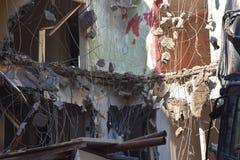 大厦的爆破在都市的 图库摄影