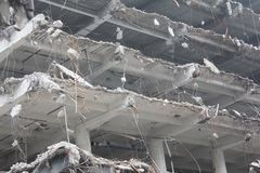 大厦的爆破 免版税库存照片