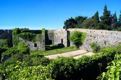 大厦的看法在堡垒Spanjola里面的 免版税库存图片