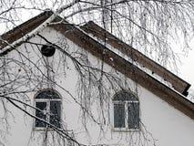 大厦的积雪的前面 库存图片