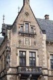 大厦的细节与阳台的在布拉格城堡区域  库存图片