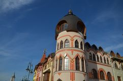 大厦的装饰部分在komarno的 库存图片