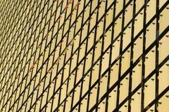 大厦的运动门面 库存图片