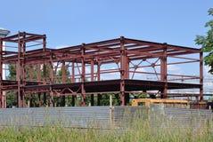 大厦的金属框架 免版税库存照片