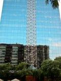 大厦的镜子墙壁在巴塞罗那 库存图片