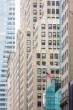 大厦的门面在曼哈顿 免版税库存图片