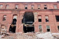 大厦的门面的废墟 免版税图库摄影