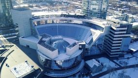 大厦的顶视图与圆顶屋顶的 构筑在圆顶结构天花板 影视素材