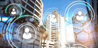 大厦的综合图象在城市 图库摄影