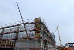 大厦的建筑在索非亚, 2014年11月24日的保加利亚 免版税库存照片