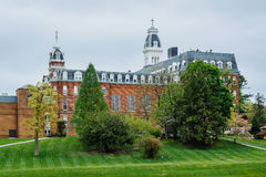 大厦看法在马里兰大学Notre Dame的,在Balti 库存图片