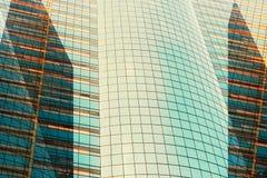 大厦纹理 抽象背景的玻璃样式 免版税库存照片