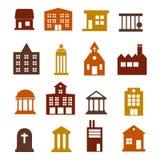 大厦网站和用户界面平的设计传染媒介的象集合 免版税图库摄影