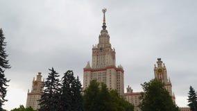 大厦罗蒙诺索夫莫斯科国立大学 影视素材