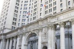 大厦老曼哈顿 库存照片