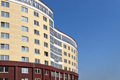 大厦舒适建筑高新的站点 库存照片