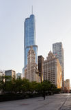 大厦芝加哥塔王牌里格利 免版税图库摄影