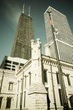 大厦芝加哥汉考克・约翰塔水 免版税库存图片