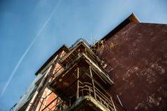 大厦葡萄酒和老 免版税图库摄影