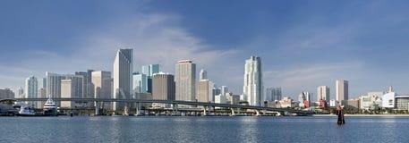 大厦街市佛罗里达迈阿密全景 图库摄影