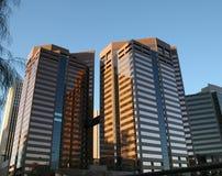 大厦街市现代办公室菲尼斯 免版税库存照片
