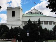 大厦议会波兰华沙 库存图片