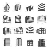 大厦象被设置的传染媒介 免版税库存图片