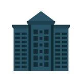 大厦象 城市和都市设计 背景装饰图象风格化漩涡向量挥动 免版税库存图片