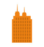 大厦象 城市和都市设计 背景装饰图象风格化漩涡向量挥动 免版税图库摄影