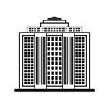 大厦象 城市和都市设计 背景装饰图象风格化漩涡向量挥动 库存图片