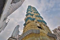 大厦起重机和大厦建设中 库存照片
