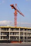 大厦起重机站点 免版税库存图片