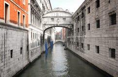 大厦运河意大利威尼斯 库存照片