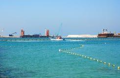 大厦迪拜海岛阿拉伯联合酋长国 库存图片