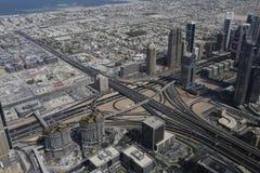 大厦都市风景在迪拜 免版税图库摄影