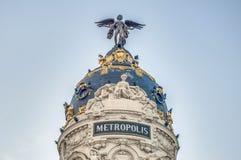 大厦马德里大都会西班牙 库存图片