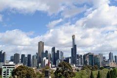 大厦高尤里卡楼层其被评定的墨尔本突出的住宅s地平线最高对塔世界 库存照片
